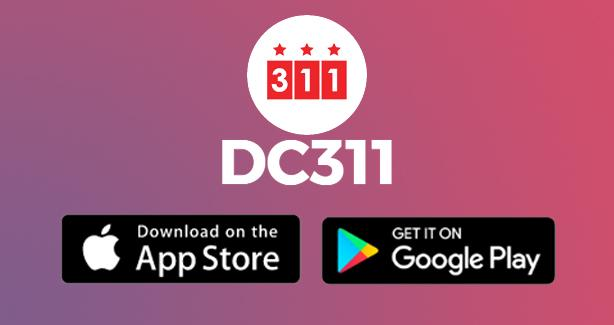 DC311 Mobile App. Now Available for download on app stores