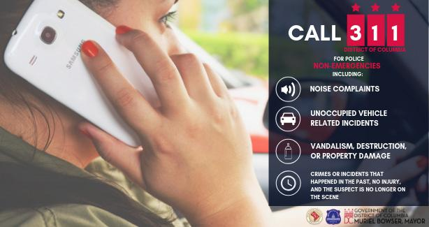 Call 311 for Police Non-Emergencies